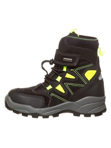 Lamino Boots in Schwarz/ Gelb
