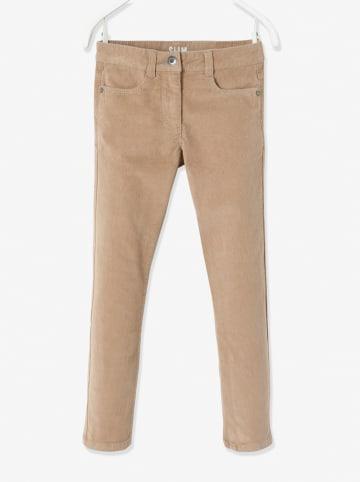 Vertbaudet Spodnie - Slim fit - w kolorze beżowym