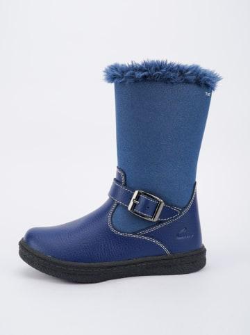 Ciao Leder-Winterstiefel in Blau