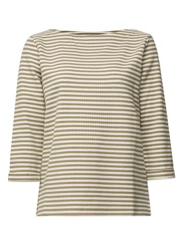 ESPRIT Sweatshirt in Khaki/ Weiß