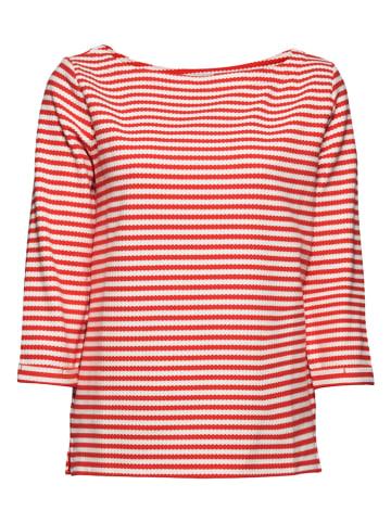 ESPRIT Sweatshirt in Rot/ Weiß