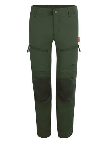 "Trollkids Spodnie trekkingowe Zipp-Off ""Nordfjord"" - Regular fit - w kolorze zielonym"