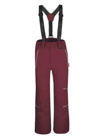 """Trollkids Spodnie narciarskie """"Holmenkollen"""" - Slim fit - w kolorze czerwonym"""