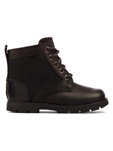 "Clarks Leren boots ""Heath Chard"" zwart"