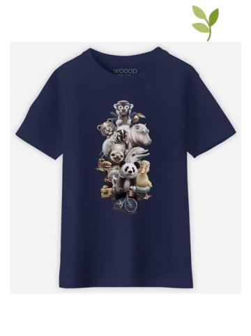 """WOOOP Koszulka """"Zoo Escape"""" w kolorze granatowym"""