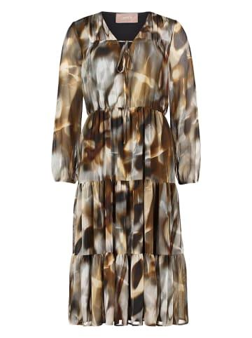 CARTOON Sukienka w kolorze szaro-brązowym