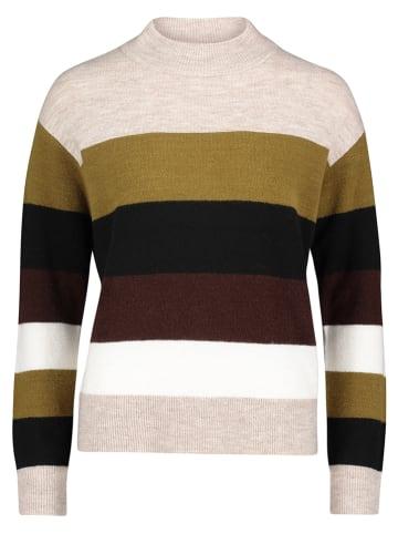 CARTOON Pullover in Beige/ Grün/ Schwarz