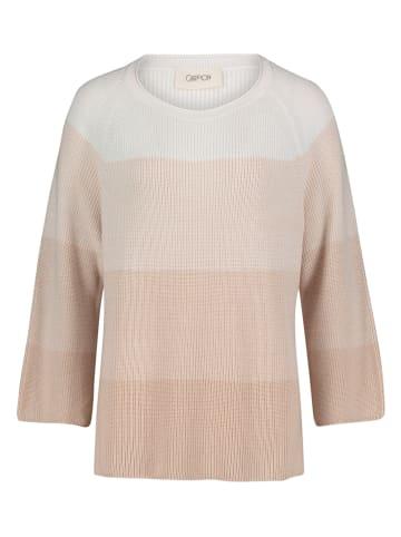 CARTOON Sweter w kolorze beżowo-białym