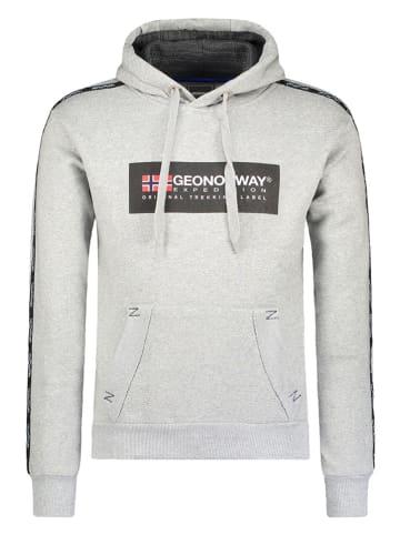 """Geographical Norway Sweatshirt """"Gathlete"""" lichtgrijs"""