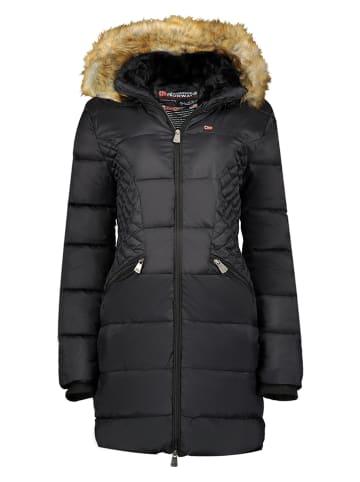 """Geographical Norway Doorgestikte jas """"Abeille"""" zwart"""