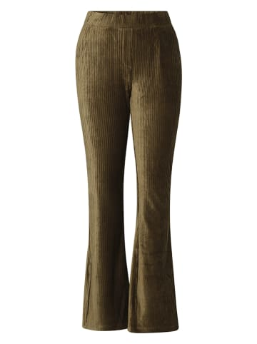 """IVY BEAU Spodnie sztruksowe """"Mae"""" w kolorze khaki"""