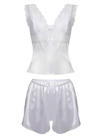 "Dkaren Pyjama ""Clarisse"" in Weiß"