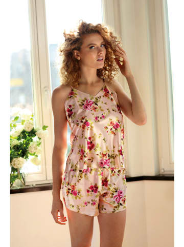 "Dkaren Pyjama ""Flowers"" in Rosa/ Pink"