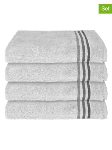 """Schiesser Ręczniki (4 szt.) """"Skyline Color"""" w kolorze szarym do rąk"""