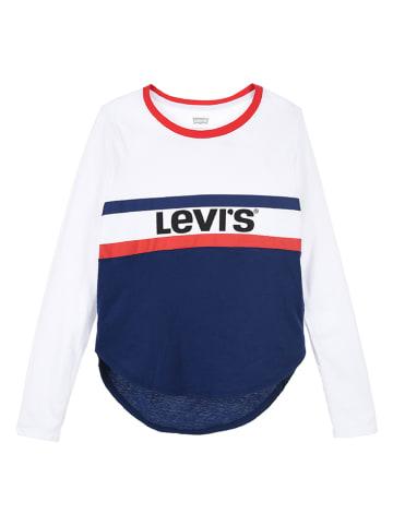 Levi's Kids Longsleeve wit/donkerblauw