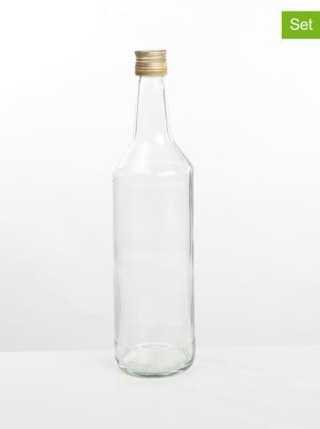 Profiline 6er-Set: Vorratsflaschen in Transparent - 1 l