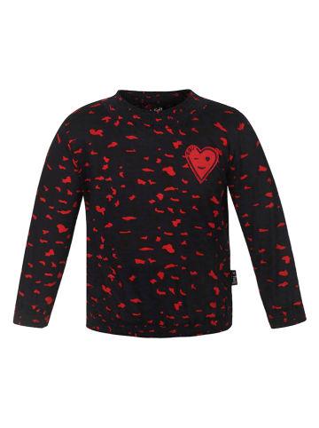 Beebielove Bluzka w kolorze czarno-czerwonym