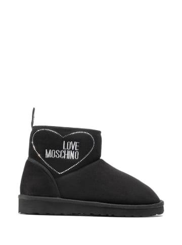 Love Moschino Botki w kolorze czarnym