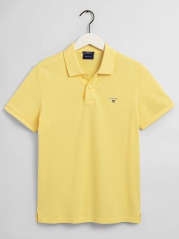 Gant Koszulka polo w kolorze żółtym