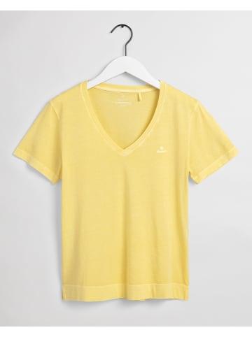 Gant Koszulka w kolorze żółtym