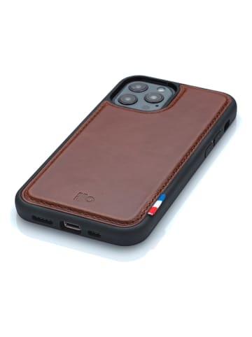 APOCOPE Leder-Smartphone-Case in Braun