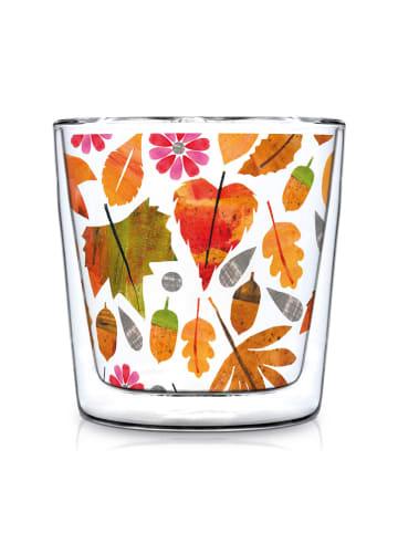"""Tee-Zeit mit ppd Doppelwandiges Glas """"Autumn Leaves"""" in Bunt - 300 ml"""