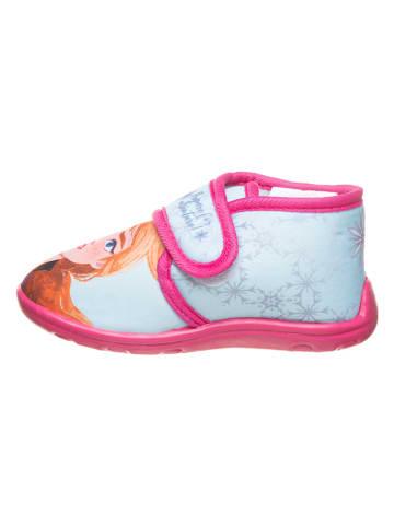 """Disney Frozen Kapcie """"Frozen"""" w kolorze błękitno-różowym"""