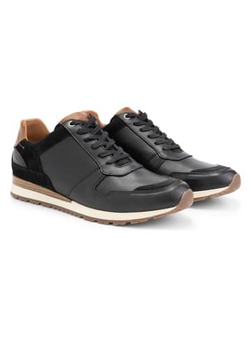 """TRAVELIN' Skórzane sneakersy """"Tamworth"""" w kolorze czarnym"""