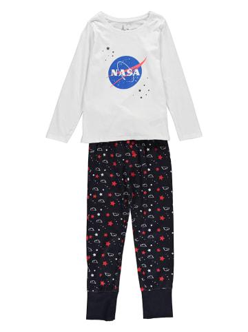 Nasa Pyjama in Schwarz/ Weiß