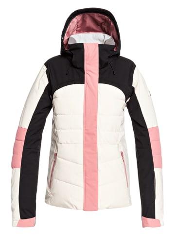 "Roxy Ski-/ Snowboardjacke ""Dakota"" in Creme/ Rosa"