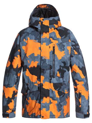 "Quicksilver Ski-/ Snowboardjacke ""Mission"" in Orange/ Grau"