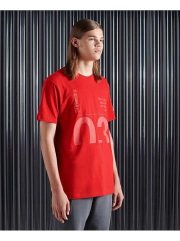 Superdry Koszulka w kolorze czerwonym