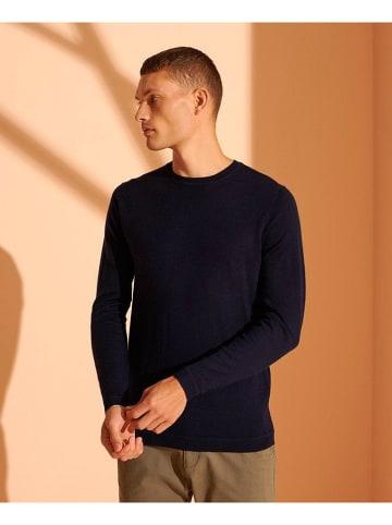 Superdry Sweter wełniany w kolorze granatowym