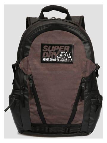 Superdry Plecak w kolorze czarno-brązowym