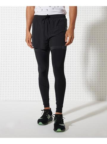 Superdry Spodnie sportowe w kolorze czarnym