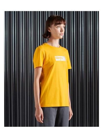 Superdry Koszulka w kolorze żółtym