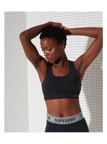 Superdry Biustonosz sportowy w kolorze czarnym