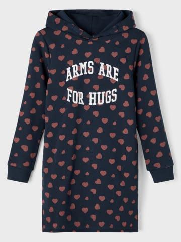 Name it Sukienka dresowa w kolorze granatowym