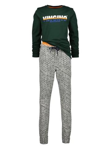 """Vingino Pyjama """"Windo"""" groen/grijs"""