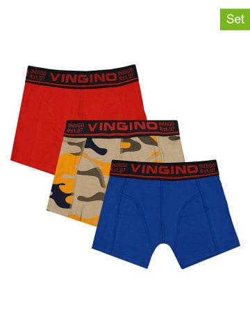 """Vingino 3-delige set: boxershorts """"Army"""" rood/blauw/kaki"""