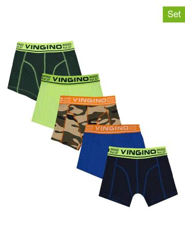 "Vingino 5-delige set: boxershorts ""Fantasy"" meerkleurig"