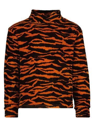 """Vingino Sweter """"Nina"""" w kolorze czarno-pomarańczowym"""