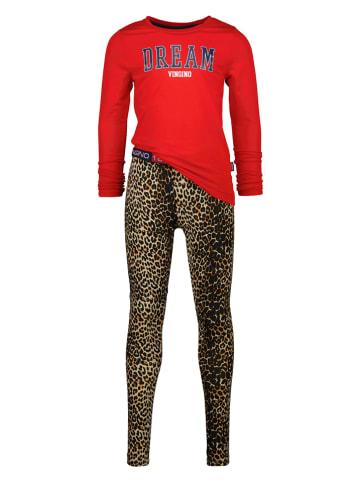 """Vingino Pyjama """"Wina"""" rood/bruin"""