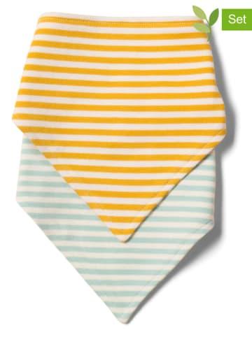 Little Green Radicals 2-delige set: sjaals geel/lichtblauw