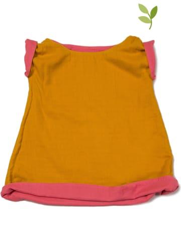 Little Green Radicals Dwustronna sukienka w kolorze jasnobrązowo-różowym
