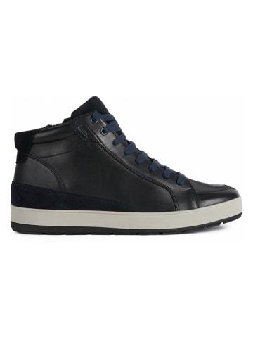 """Geox Skórzane sneakersy """"Ariam"""" w kolorze granatowym"""