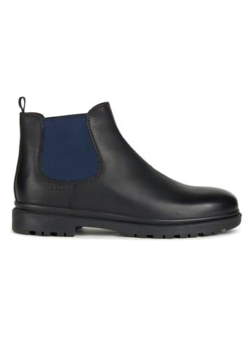 "Geox Leder-Chelsea-Boots ""Andalo"" in Schwarz/ Dunkelblau"