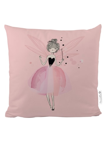 """Mr Little Fox Satin-Kissen """"Bubble Fairy"""" in Rosa/ Weiß - (L)50 x (B)50 cm"""