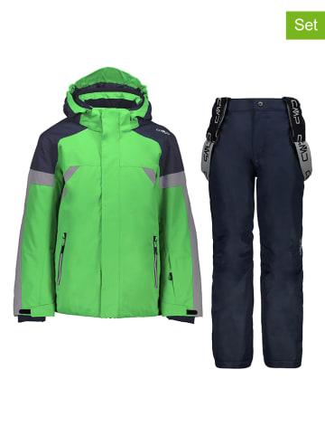 CMP 2-delige ski-/snowboardoutfit groen/donkerblauw