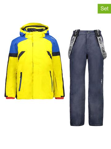 CMP 2-delige ski-/snowboardoutfit geel/donkerblauw